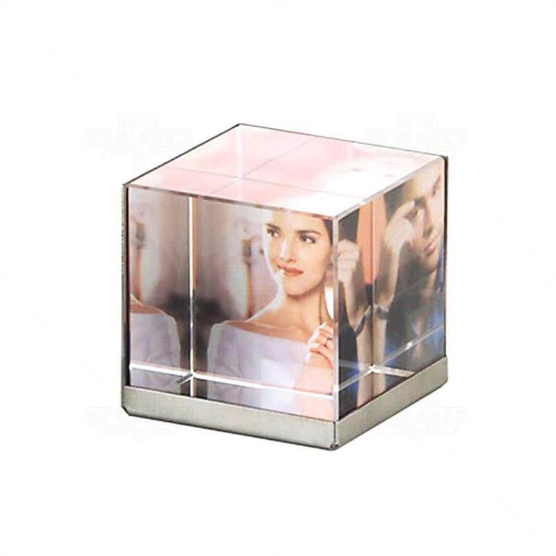 080c6bccbf3 Brindes Fortaleza    Porta Retrato    Porta Retrato Cubo de Vidro - PR02